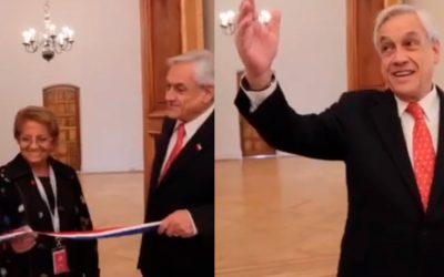 Presidente muestra los trabajos hechos por Grupo Flesan en La Moneda